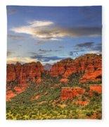 Red Rocks Sunset Fleece Blanket