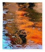 Red Roof Tile Reflection 29412 Fleece Blanket