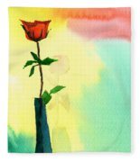 Red Rose 1 Fleece Blanket