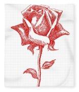 Red Rose Art 1 Fleece Blanket