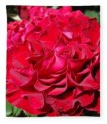 Red Rose Art Prints Big Roses Floral Fleece Blanket