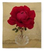 red rose III Fleece Blanket