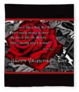 Red Rose Valentine Fleece Blanket