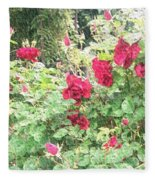 Red Roses Fleece Blanket