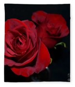 Red Roses For A Blue Lady Fleece Blanket