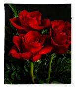 Red Roses Fleece Blanket