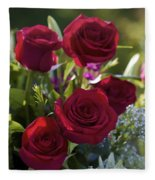 Red Roses The Language Of Love Fleece Blanket
