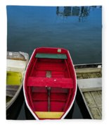 Red Rowboat Fleece Blanket