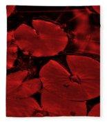 Red Ruby Tuesday Fleece Blanket
