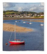 Red Sail Boat Fleece Blanket