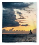 Sails In The Sunset Fleece Blanket