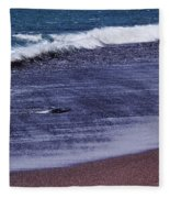 Red Sand Beach Abstract Fleece Blanket