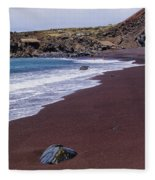 Red Sand Beach Fleece Blanket