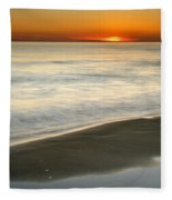 Red Sea Sunset Fleece Blanket