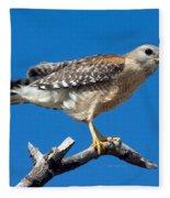 Red-shoulder Hawk Fleece Blanket