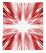 Red Silk Star Fleece Blanket