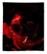 Red Skull  Fleece Blanket