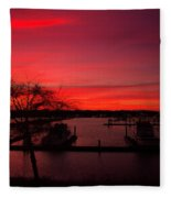 Red Sky In The Morning Two Fleece Blanket