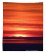 Red Sky Morning Fleece Blanket