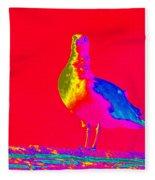 Red Sky Seagull Fleece Blanket