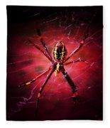 Red Spider Fleece Blanket