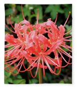 Red Spider Lily Fleece Blanket