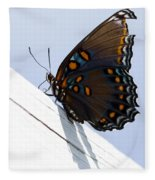 Red Spotted Purple Fleece Blanket