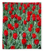 Red Spring Fleece Blanket