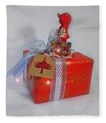 Red Squirrel Gift Fleece Blanket