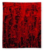 Red Streaks Fleece Blanket