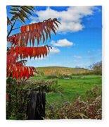 Red Sumac Field Fleece Blanket