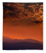 Red Sumer Sunset Fleece Blanket