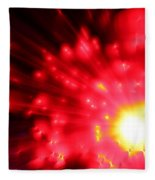 Red Sun Fleece Blanket