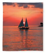 Red Sunset Fleece Blanket