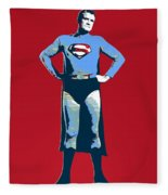 Red Superman Fleece Blanket