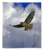 Red Tail Hawk Digital Freehand Painting 1 Fleece Blanket