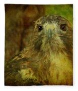 Red-tailed Hawk II Fleece Blanket