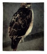 Red Tailed Hawk Fleece Blanket