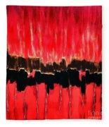Red Thunder Clash II Fleece Blanket