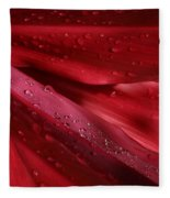 Red Ti The Queen Of Tropical Foliage Fleece Blanket