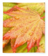 Red Tip Leaf Fleece Blanket