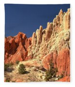 Red To White To Blue Fleece Blanket