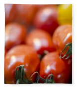 Red Tomatoes At The Market Fleece Blanket