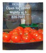 Red Tomatoes Fleece Blanket