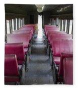Red Train Seats Fleece Blanket