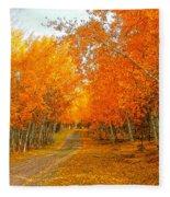 Red Tree Rd Fleece Blanket