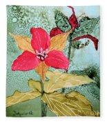 Red Trillium Fleece Blanket