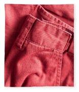 Red Trousers Fleece Blanket