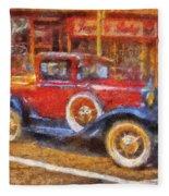 Red Truck Photo Art Fleece Blanket