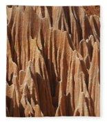 red Tsingy Madagascar 5 Fleece Blanket